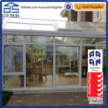 triangle garden alminium prifabricated glass house
