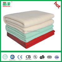 thick warm polyester electric industrial heating raschel blanket