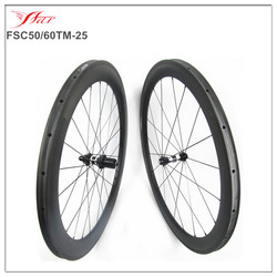 oem carbon wheel bicycle wheels 2016 hot sale 50mm front 60mm rear mixed carbon wheels, 100% full carbon fiber racing wheels