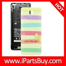 New Design Colorful Stripe and Bowknot Pattern Back Cover Replacement for Xiaomi MI4
