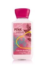 Scented moisturizing pink velvet body lotion