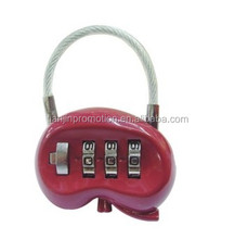 Cute and Popular kidney Shaped tsa lock/luggage lock and suitcase lock
