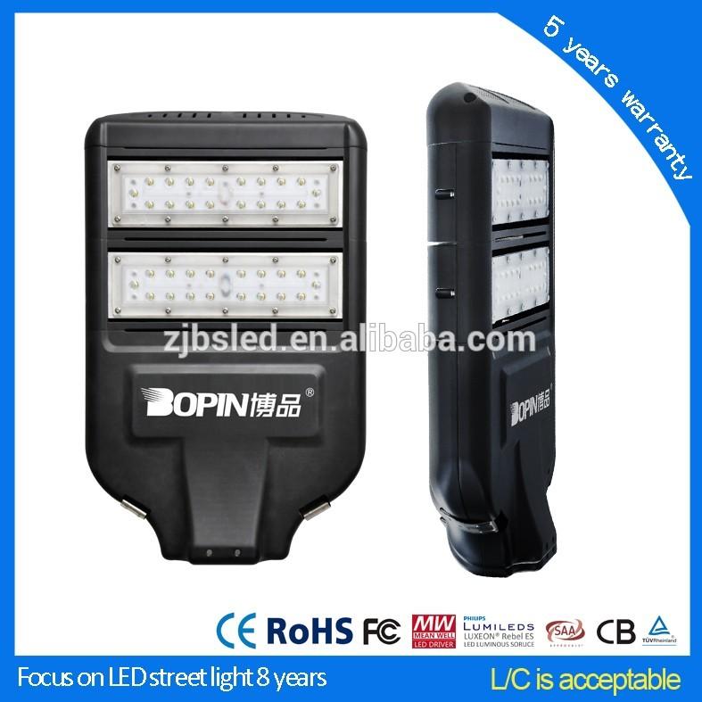 BOPIN IP65 IK10 Druckguss Aluminium Lampenkörper 100 watt led-straßenleuchte