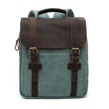 European fashion style retro canvas unisex travel leisure backpack bag