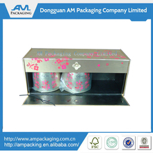 hinged cardbaord coffee storage boxes airtight full color paper coffee packaging cans &case packaging
