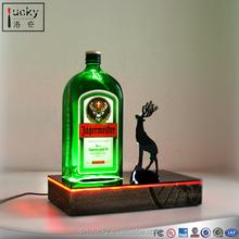Green wine bottle acrylic holder