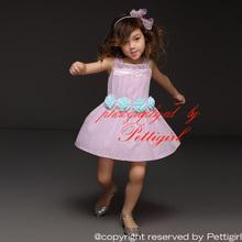 Mode 2015 filles robes danse Tutu robe fleur mignonne été vêtements pour fille enfants portent livraison gratuite GD41207-03