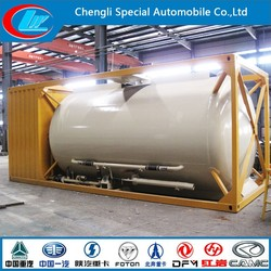 Factory direct selling 20ft LPG tank container ASME Standard LPG ISO tank container hot sale propane gas container