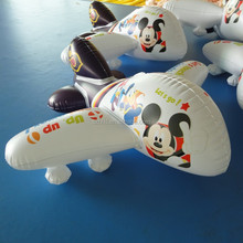 mini inflatable airplane with logo printed for promotion