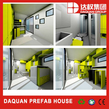 20ft economic/low cost living prefab container house price,house of two container,container modular home