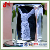 promotional gifts with 3d engraving crystal in china