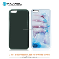 DIY fashionable Sublimation 2 IN 1 Heavy Duty B phone case for iphone 6 plus, Customized Phone Cover