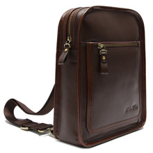 CSLRB031-001 Fashionable hemming-stitch pure leather haversack for office men