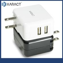 Karact dual port portable mobile phone charger