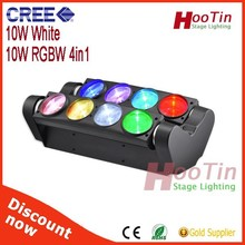 New Style 10 Watt 6 Pieces RGBW 4in1 Osram Moving Head Led Beam/Led Spider/Beam Moving Head Light