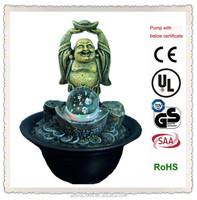 feng shui fortune laughing buddha fountain