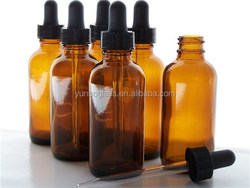 2oz Amber Glass Bottles for Essential Oils with Glass Eye Dropper - Pack of 6