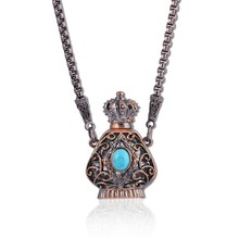 Antique Golden Color Perfume Charming Pendants Necklace Jewelry Factory Selling