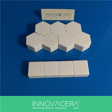 High Corrosion Resisting 96% Alumina Ceramic Hexagon Wear Tiles/INNOVACERA