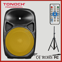 """15"""" 2 way portable active speaker cabinet sound box withperformance tweeters and woofer, with a high power"""