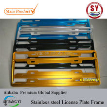 high quality License plate frame Stainless steel plate with package