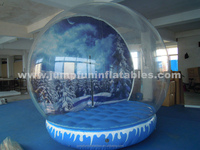 Christmas decoration PVC Inflatable Balloon/Giant Snow Globe inner Backdrop printing customize