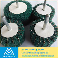All Kinds Of Non-Woven Flap Wheel For High Speed Polishing
