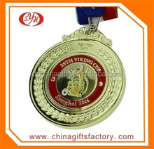 Factory Price Gold Plated Metal Medal, Sport Medal with Box