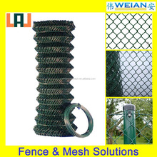 High Quantity PVC Coated Chain Link Fence, Diamond Wire Mesh Roll Wire Fencing(WEIAN,ISO9001)