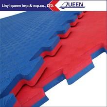 Wholesale eva waterproof eco-friendly reversible GYM mat/customized foam exercise mat for body building