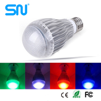 Branded export surplus10w e27 color changing led light bulb remote control dimmable led lamp
