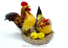 cute handmade artificial cheap cute wholesale chicken arts easter chicken decoration