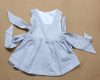First Impressions Baby Clothing, Cute Sewing Baby Dress with Big Bow White Black Baby Girl Dress,