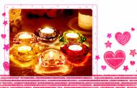 3.5*7.3cm Diamond Machinemade Color Sprayed Glass Candle Holder with Diamond Shaped