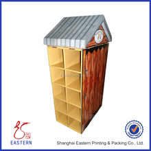 House Shaped Corrugated Cardboard Display Stand