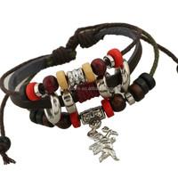 Men Women Unisex Multi thong braided thin Genuine angel Leather Bracelet wristband Jewelry Items strand bangle