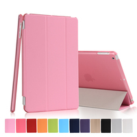 High Quality Three Fold Stand Magnetic Flip Cover Smart Awakening Case for iPad mini 1/2/3 for Apple mini 1/2/3