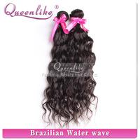 2015 Guangzhou Top 10 FDX factory 100% human virgin unprocessed water wave hot sell brazilian hair