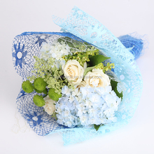 Multi-color Sunflower Organza Floral Package