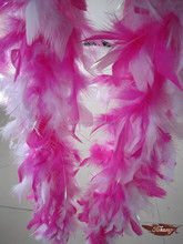 Mixed Colors Chandelle Feather Boa With Iridescent Lurex