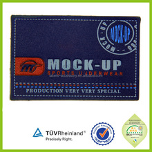 OEM high quality Simple design Cheap Faux Leather Label for jacket