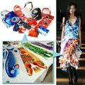 el diseño único de koi el patrón de tela para ropa de moda de diseño de japón