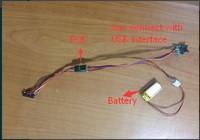MSRV009 MSR009 with 3mm 2tracks 3tracks magnetic card reader compatitable with MSRV008 MSRV007