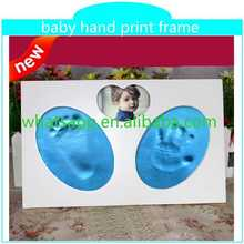 best selling handprint and footprint kit with frame high quality plastic photo frame wholesale