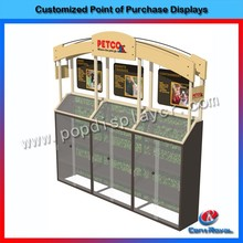 Hot sale pet products wooden display showcase for retail shop