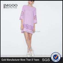 MGOO custom made western design loose fit plus size women purple dress 2015 new arrival casual one piece dress
