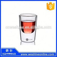 pyrex double wall glass juice mug/glass coffee tea cups/drinking glasses