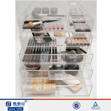 large acrylic makeup display cube organizer acrylic display storage box with dividers