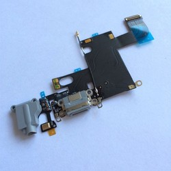 NEW Black Headphone Audio Dock Connector Charging Data USB Port Flex Cable For iPhone 6 4.7 inch Replacment Parts