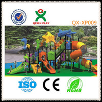 LLDPE playground used for preschool/children outdoor playground big slides/used playground tiles QX-XP009